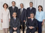 Seven Bahá'í leaders - courtesy of Bahá'í International Community